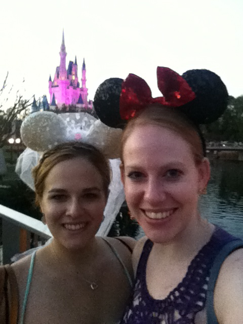 Christine and I walking way to much in the parks the day before!