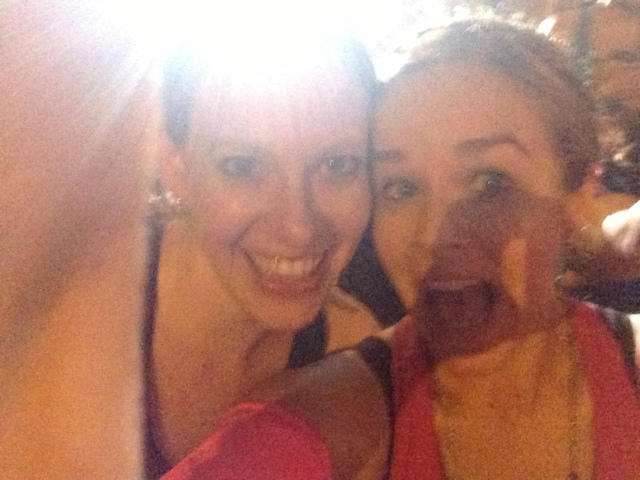 Our let's wake up at 3:30am to go run 13.1 miles faces! We make good decisions!