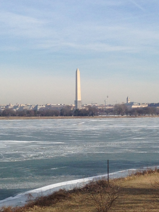 Washington Monument on the right