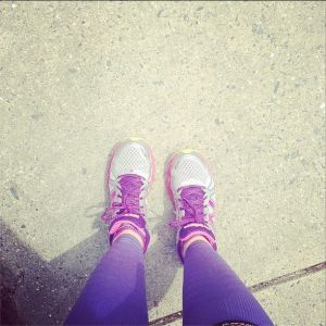 I'm sure you're admiring my super purples Zensah Compression Sleeves!