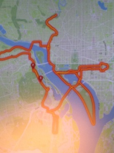 Is that the new map of the Marine Corps Marathon or are you just happy to see me?