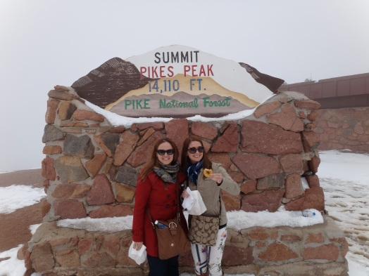 Ms. RockyMtnPearl and Myself at the summit with Donuts!
