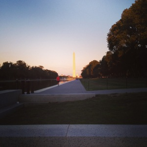 Mid-week runs are the best when the reflecting pool is your track.