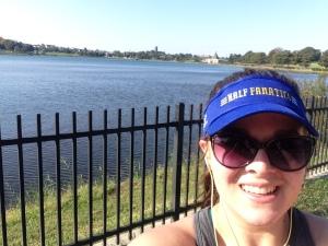 Lake Selfie! 1.5 miles of serenity