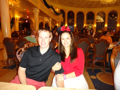 Hubby and I in main dining area!