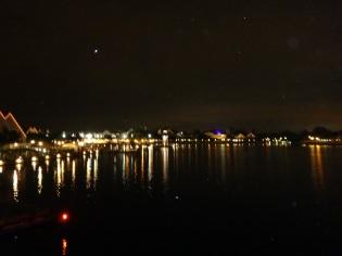 Boardwalk lit up... it was beautiful.
