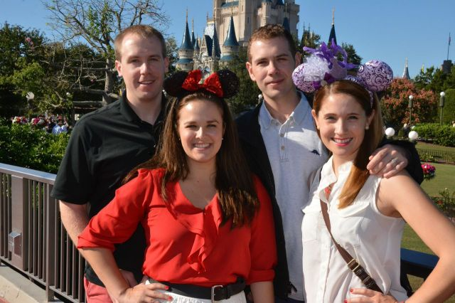 the whole gang. yes we are wearing mickey ears.